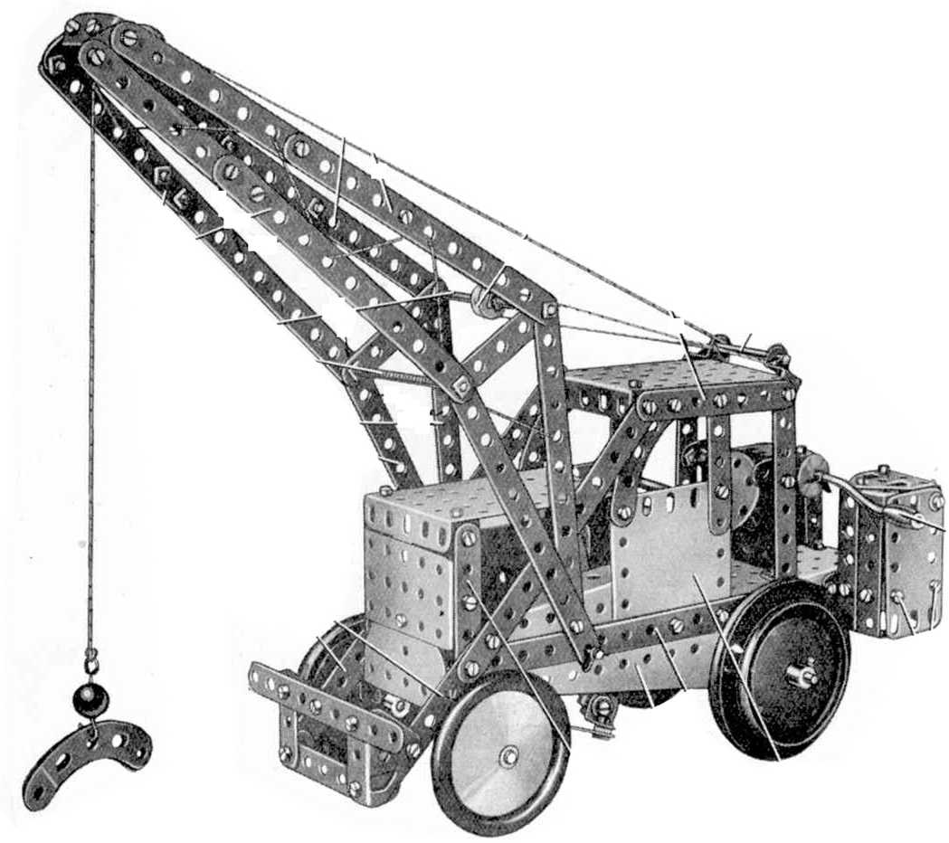 Analysis Of Meccano Manuals Manual Model Search Motor Reversing Switches Electronics In 195461 611 Two Ton Mobile Crane